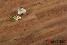 PL5701-Dark oak wood texture dry back pvc flooring with embossed surface